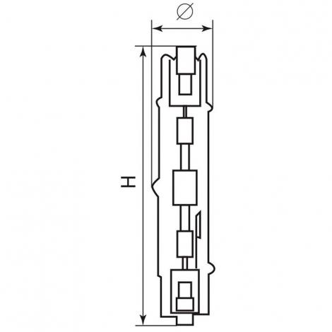 Лампа металлогалогенная HID2