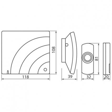 Звонок дверной беспроводной H2-138C
