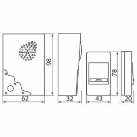 Звонок дверной беспроводной E-223